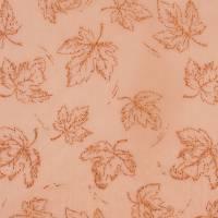 Deko-Stoff  Blätter Orange-Kupfer Bild 1