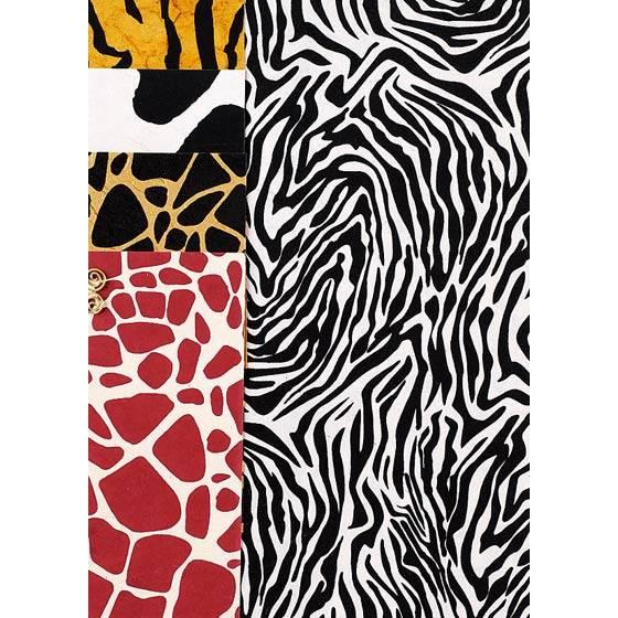 Naturpapier-Sortiment DIN A4 - 5 Blatt Tierfellmuster Bild 1