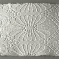 5 Blatt handgeschöpftes Prägepapier, ca. 15 cm x 21 cm, cremeweiß, Büttenpapier mit Prägestruktur, Strukturpapier Bild 3