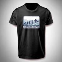 T-Shirt mit Snowboard Evolution Motiv Bild 1