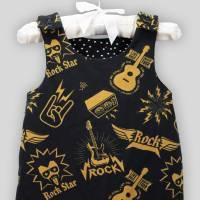 Baby Strampler Rock Star mit Druckknöpfen Bild 3