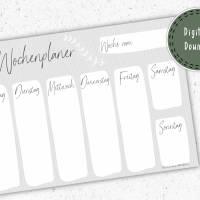 Wochenplaner - Plane deine Woche Bild 1