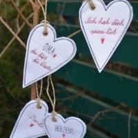 Geschenkanhänger Herz Herzen Anhänger Filz Bild 1