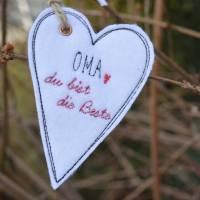 Geschenkanhänger Herz Herzen Anhänger Filz Bild 2