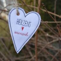Geschenkanhänger Herz Herzen Anhänger Filz Bild 3