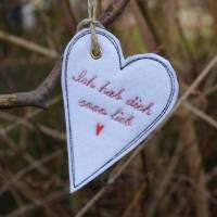 Geschenkanhänger Herz Herzen Anhänger Filz Bild 4