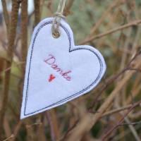 Geschenkanhänger Herz Herzen Anhänger Filz Bild 5