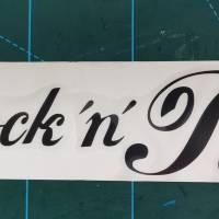 Rock 'n' Roll, Vintage Sticker, Autoaufkleber, schwarz Bild 1