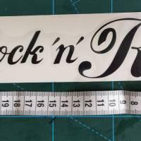 Rock 'n' Roll, Vintage Sticker, Autoaufkleber, schwarz Bild 2