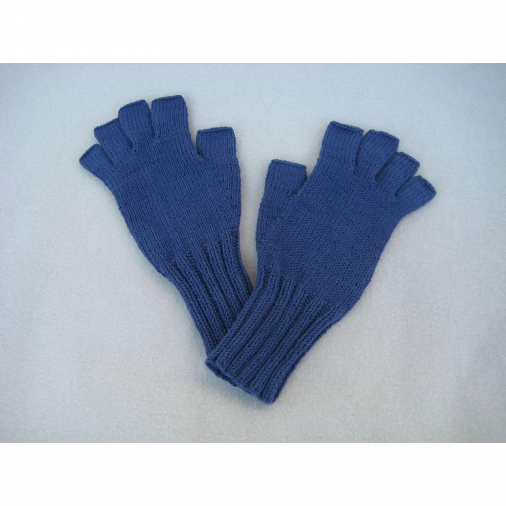 RESERVIERT für Anett Fingerhandschuhe ohne Kuppen aus Baumwolle Bild 1