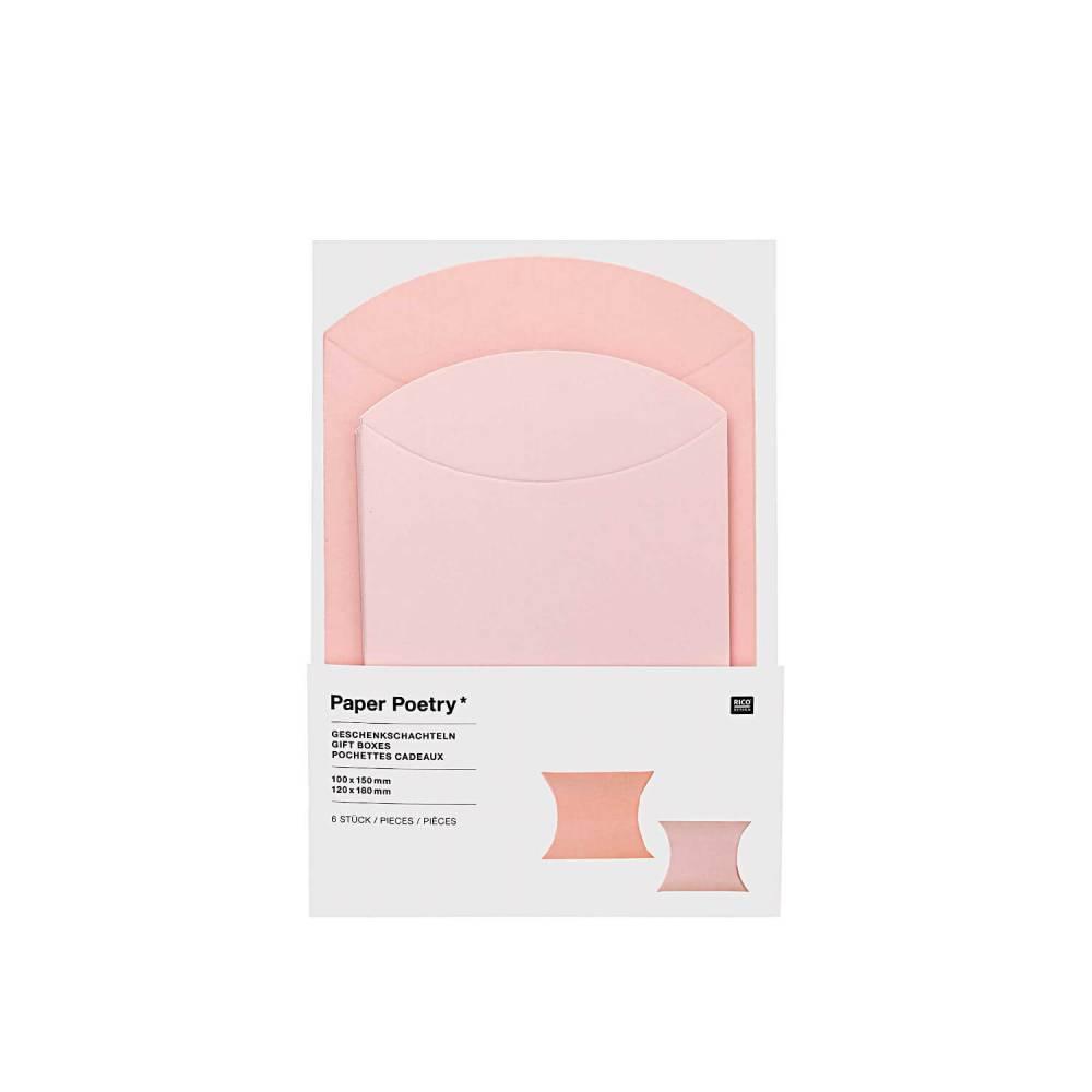 Geschenkschachteln 6 Stück rosa 2 Größen Bild 1