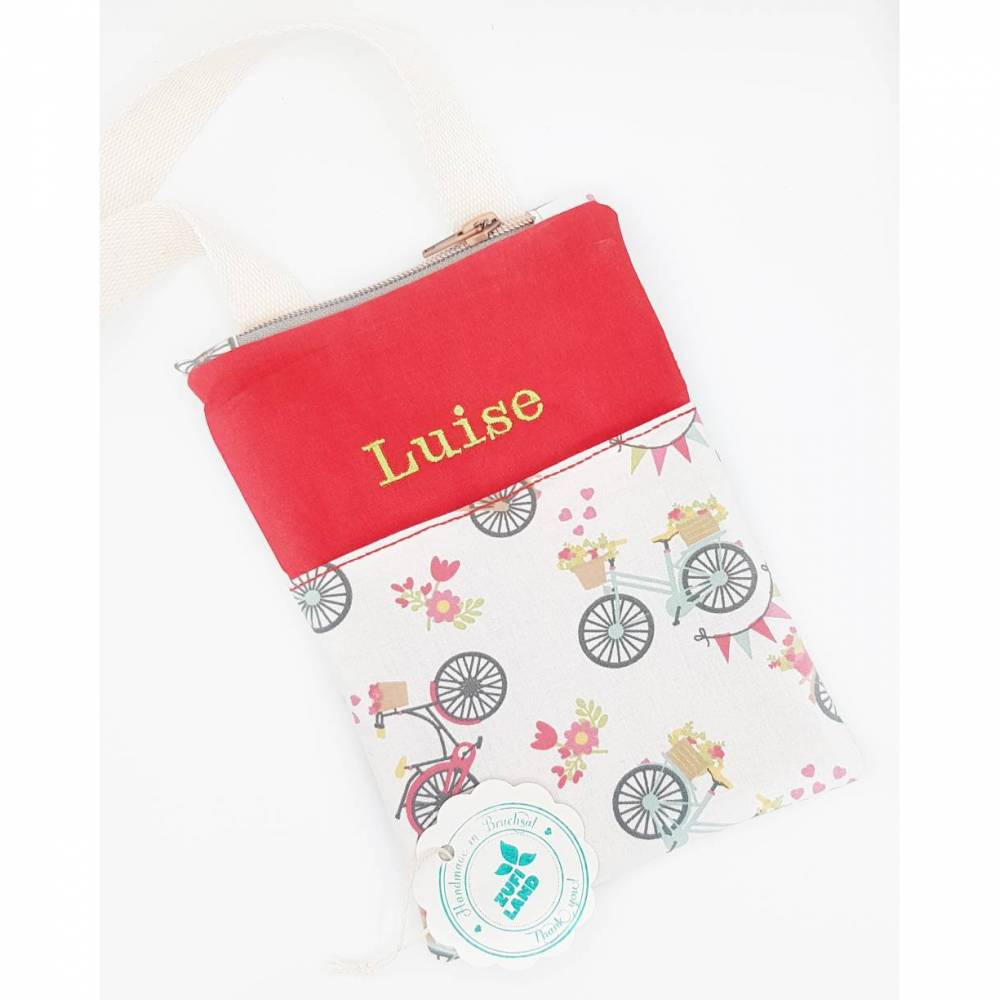 Brustbeutel mit Namen personalisiert, Kinder Geldbeutel, Geldbörse, Brusttasche, Beutel mit Namen, Mädchen Geburtstag Bild 1
