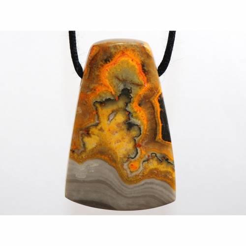 Eclipse auf Baumwollband (Halskette, Stein mit Band) --- Stein-Größe: 37 x 24 mm