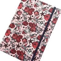 "Notizbuch ""Tattoo Roses"" Hardcover A5 stoffbezogen Rosen Tattoo Fan Geschenkidee Geschenkartikel  Bild 4"