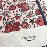 "Notizbuch ""Tattoo Roses"" Hardcover A5 stoffbezogen Rosen Tattoo Fan Geschenkidee Geschenkartikel  Bild 6"