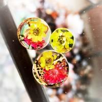 Plug,  Blüte,Moos und Draht, Harz, handmade,Piercing ,Ohrpiercing , 1 Stück Bild 3