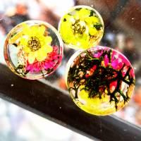Plug,  Blüte,Moos und Draht, Harz, handmade,Piercing ,Ohrpiercing , 1 Stück Bild 4