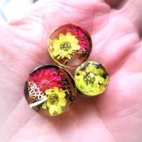Plug,  Blüte,Moos und Draht, Harz, handmade,Piercing ,Ohrpiercing , 1 Stück Bild 5