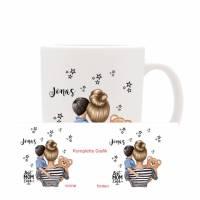 Personalisierte Tasse mit Namen Mutter & Sohn   Bild 2