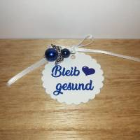 """Anhänger """"Bleib gesund"""" mit Schutzengel/Perlenengel in 7 verschiedenen Farben Bild 3"""