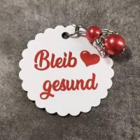 """Anhänger """"Bleib gesund"""" mit Schutzengel/Perlenengel in 7 verschiedenen Farben Bild 4"""