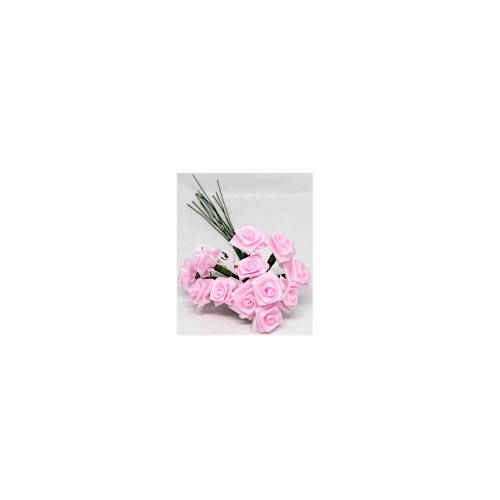 Satinröschen rose 12mm