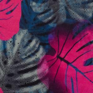 15,90EUR/m Webware luftig leicht Jungle Network Monstera Blätter Thorsten Berger pink dunkelblau Bild 3