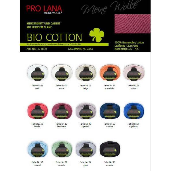 Pro Lana  (Meine Wolle) Bio Cotton mercerisiert, gasiert mit seidigem Glanz  Bild 1