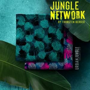 15,90EUR/m Webware luftig leicht Jungle Network Monstera Blätter Thorsten Berger grün petrol Bild 4