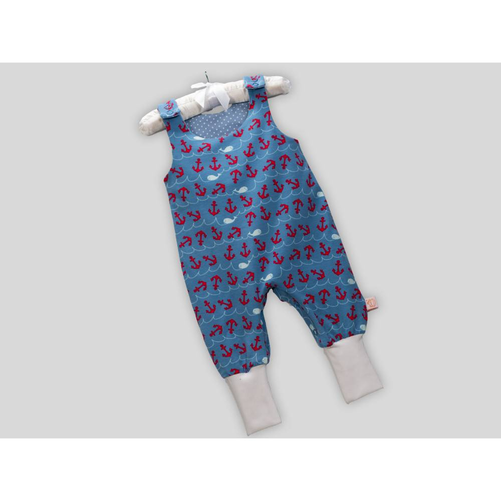 Bio Baby Strampler Babystrampler Ankerliebe Bild 1