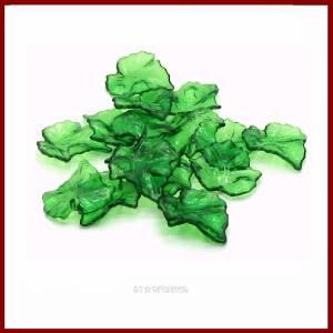 20 Anhänger Charms Ahorn- Blätter grün transparent  glänzend 24mm  Acryl Bild 2