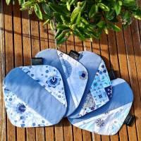 4er Set waschbare Stoffbinden aus Baumwolle nachhaltige Monatshygiene - Zero Waste - Eisblumen Bild 2