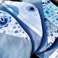 4er Set waschbare Stoffbinden aus Baumwolle nachhaltige Monatshygiene - Zero Waste - Eisblumen Bild 4