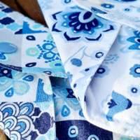 4er Set waschbare Stoffbinden aus Baumwolle nachhaltige Monatshygiene - Zero Waste - Eisblumen Bild 6