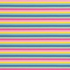 15,90EUR/m Gala Jersey Streifen Eiscremfarben rosa gelb türkis Bild 1