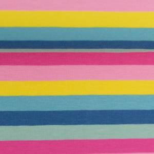 15,90EUR/m Gala Jersey Streifen Eiscremfarben rosa gelb türkis Bild 2