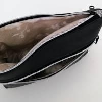 Kosmetiktasche, Schminktasche, Kunstleder schwarz Bild 4