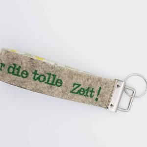 Filz Schlüsselanhänger personalisiert Erzieher, Erzieherin Geschenk Abschied Kindergarten, Geschenk Lehrerin mit Herz Bild 6