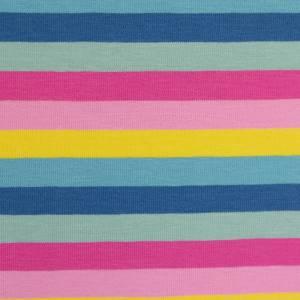 15,90EUR/m Gala Jersey Blockstreifen Eiscremfarben rosa gelb türkis 3cm Bild 1