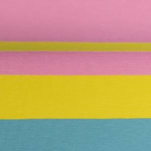 15,90EUR/m Gala Jersey Blockstreifen Eiscremfarben rosa gelb türkis 3cm Bild 3