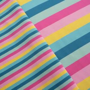 15,90EUR/m Gala Jersey Blockstreifen Eiscremfarben rosa gelb türkis 3cm Bild 4