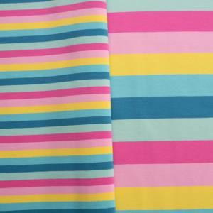 15,90EUR/m Gala Jersey Blockstreifen Eiscremfarben rosa gelb türkis 3cm Bild 5