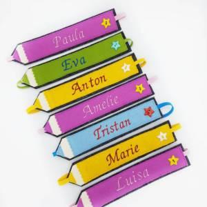 Lesezeichen mit Wunschnamen personalisiert, Einschulung 2021 Mädchen Junge, Schulkind 2021, Kindergeburtstag Bild 2