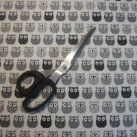 11,00 EUR/m Baumwolle Stoff Mini Hiboux Eulen grau Bild 5