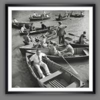 New York Central Park 1942 - Ruderboote KUNSTDRUCK, Poster, schwarz Weiß  Fotografie, Vintage Art,  Fineart Print, Kunst Bild 1