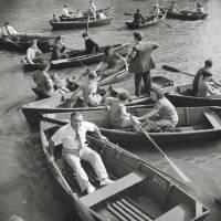 New York Central Park 1942 - Ruderboote KUNSTDRUCK, Poster, schwarz Weiß  Fotografie, Vintage Art,  Fineart Print, Kunst Bild 2