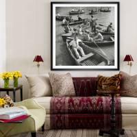 New York Central Park 1942 - Ruderboote KUNSTDRUCK, Poster, schwarz Weiß  Fotografie, Vintage Art,  Fineart Print, Kunst Bild 3