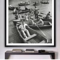 New York Central Park 1942 - Ruderboote KUNSTDRUCK, Poster, schwarz Weiß  Fotografie, Vintage Art,  Fineart Print, Kunst Bild 4