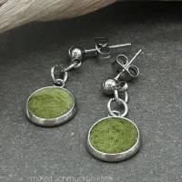 Ohrringe, Filz in Grün Bild 2