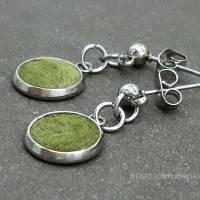 Ohrringe, Filz in Grün Bild 3
